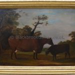 Cow and Calf in a Landscape by Thomas Weaver