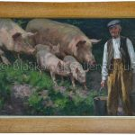 Feeding Time by William Gunning King Antique Oil Paintings