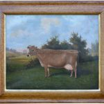 Prize Jersey Cow Monomint by William Albert Clark Naive Animal Painting