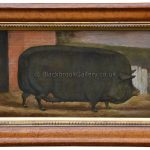 The Prize Sow, Antique Livestock Painting