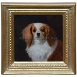 Antique Animal Portrait Of A Blenheim King Charles Spaniel by W.E. Marshall