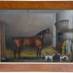 Billy a bay hunter antique animal paintings