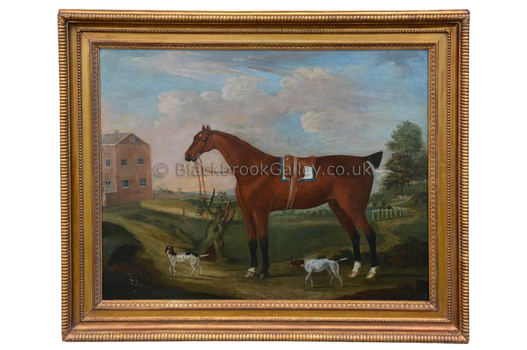 Gentleman's Hunter with a couple of Pointers by Francis Sartorius