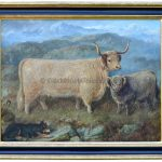 Gheal Chasach, Antique Animal Painting by Gourlay Steel
