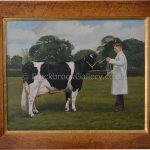 Portrait of a British Friesian Cow signed M. Weirs