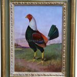 Portrait of Old English Game Cock Signed and dated J E Dean 1925
