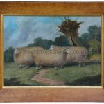 Prize Ewes In A Field By Artist Richard Whitford