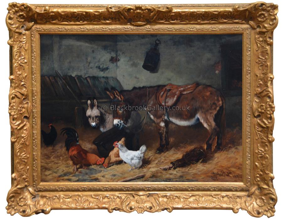 Stable Companions Antique Animal Portrait