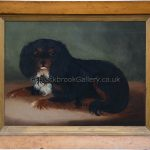 Cavalier king charles spaniel antique animal paintings