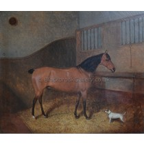 bay-hunter-piccolomini-and-terrier-in-a-stable-painting-signed-whitford-1855[1]