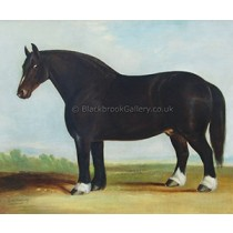 magnificent-bay-heavy-horse-by-j-a-s-clark-naive-animal-paintings[1]