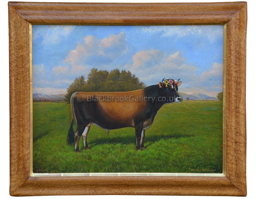 Hanley Baritone Framed Antique Animal Portrait By W A Clark
