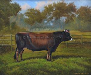 Hanley Mallard Antique Animal Painting By W A Clark