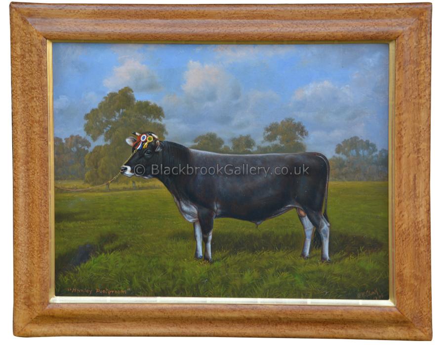 Hanley Postgroom, Antique Animal Portrait By W A Clark