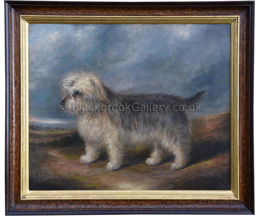 Harry, Portrait of a terrier antique animal portrait