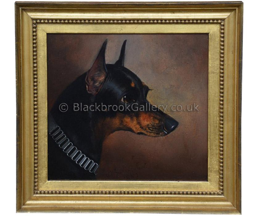 Manchester terrier by John Alfred Wheeler antique animal portrait