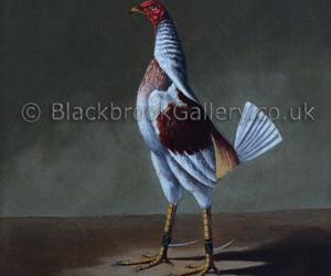 Old English Game Cock by Hilton C. Pratt naive animal paintings