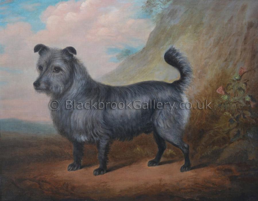 Skye terrier antique animal paintings