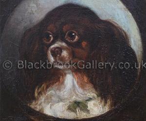 Study of king charles spaniel by Benjamin Waterhouse Hawkins naive animal paintings