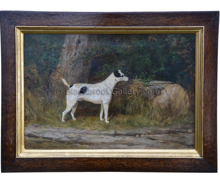 The parson russell by Arthur Wardle antique animal portrait