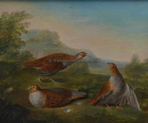 Partridges In An Upland Landscape
