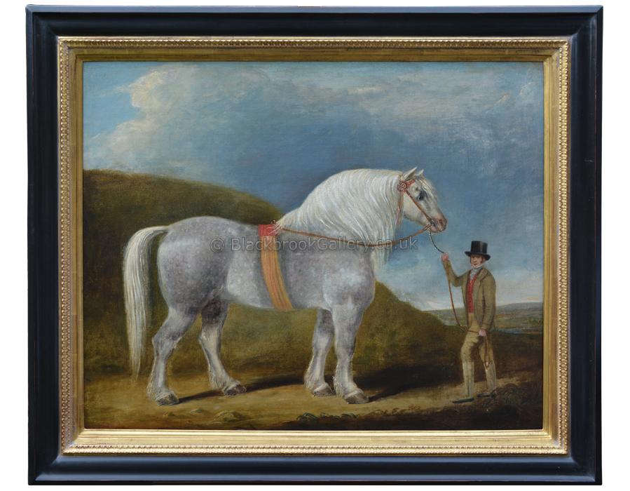 Prize Winning Stallion, Naive Animal Painting
