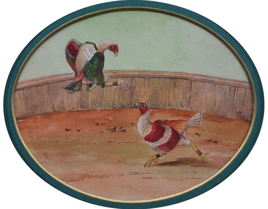 The Set To by J.E. Dean Antique animal portrait
