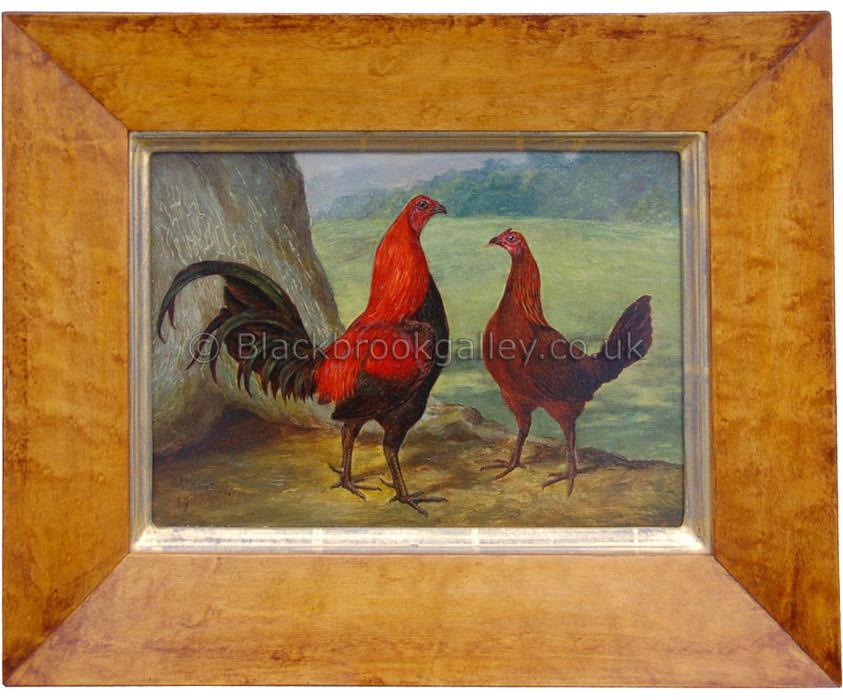 Two Game Birds by Herbert Atkinson Antique animal portrait