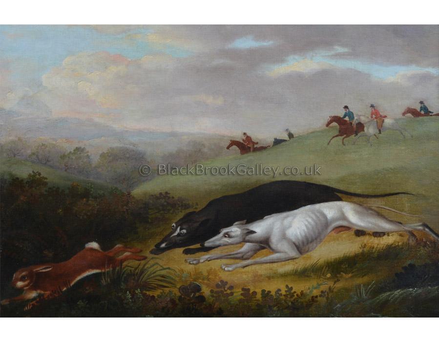 Coarsing scene by Samuel Spode antique animal paintings