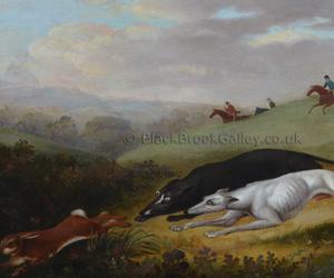 Coarsing scene by Samuel Spode naive animal paintings
