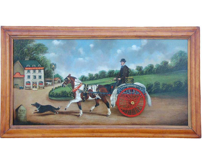 Mr Bauch the horse slaughterer antique animal portrait