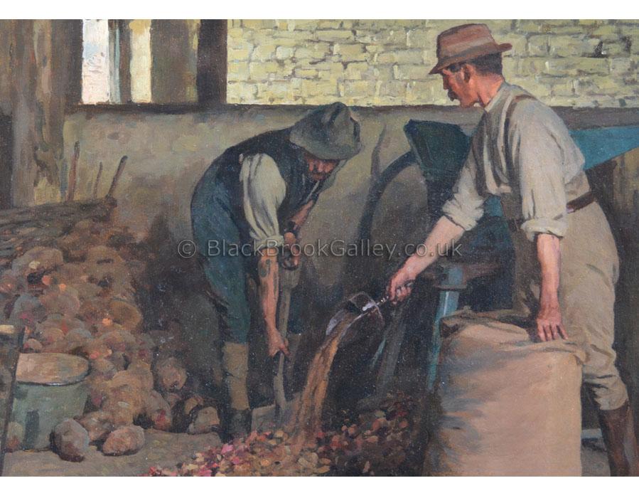 Preparing feed by William Gunning King antique animal paintings