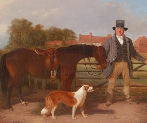 Samuel flower by William Malbon naive animal paintings