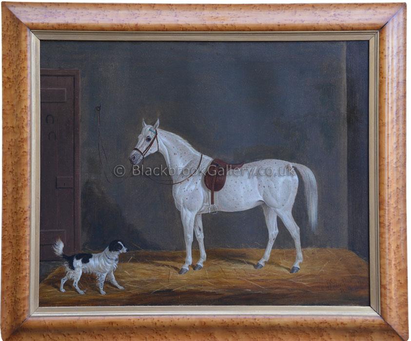 The favourites by James Loder antique animal portrait