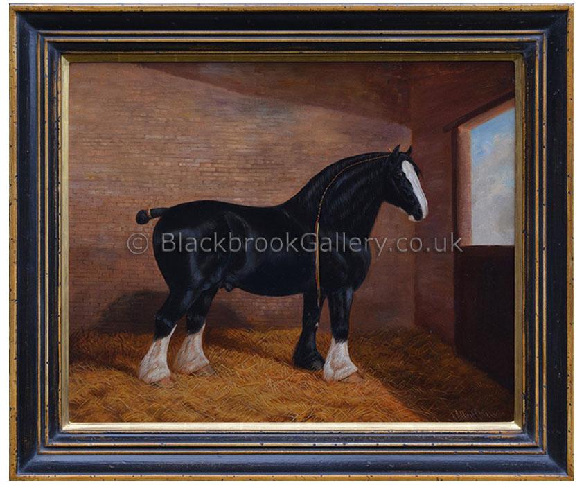 Champion shire by Albert Clark antique animal portrait