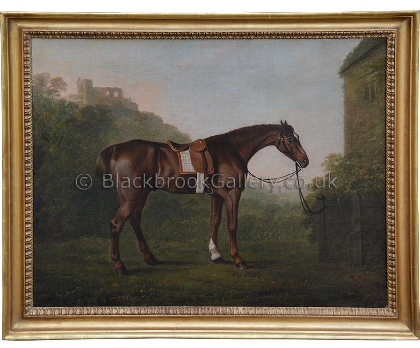 Chestnut horse by John Boultbee antique animal portrait