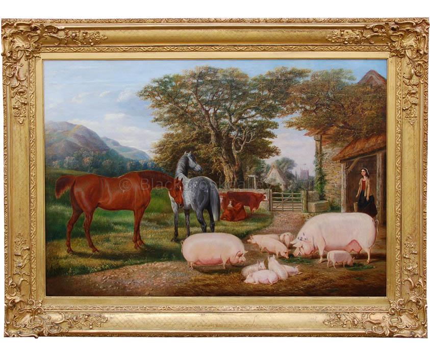Farmers glory by Edwin Brown antique animal portrait
