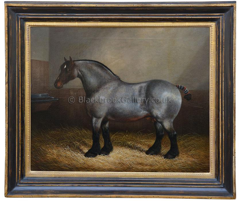 Merryman by James Clark antique animal portrait